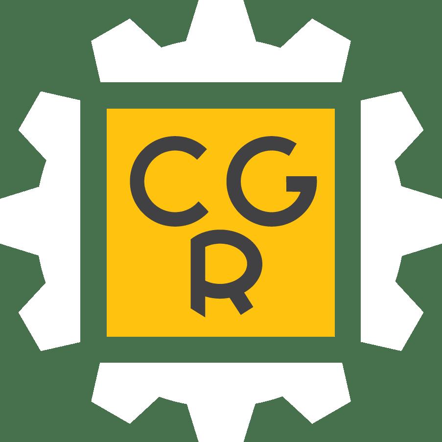 Cgr Gear Logo White